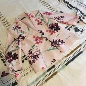 🆕 Nine West Floral Pink Career Summer Blazer 14